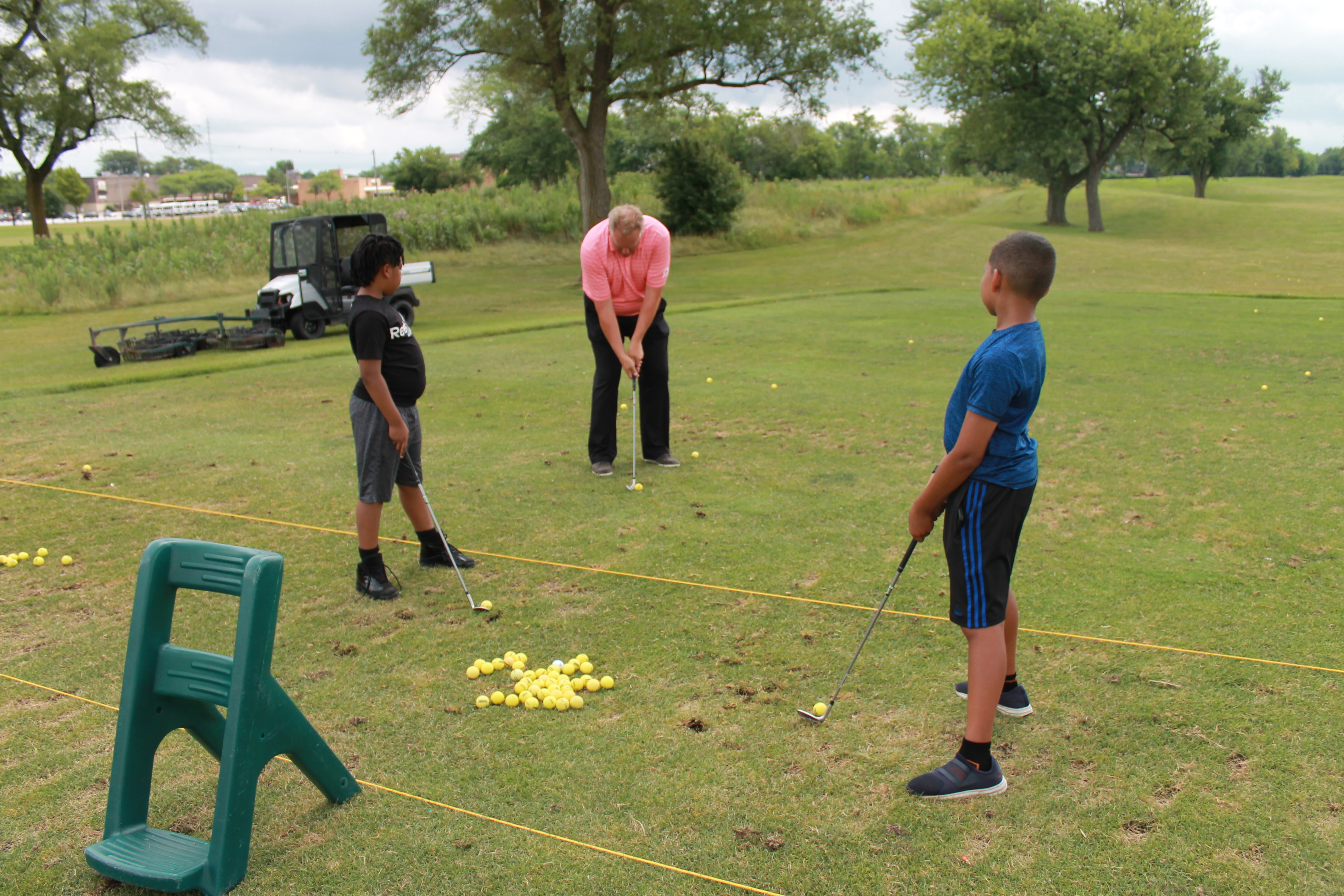 Jr. golfes at one of the many golf camps at Coyote Run..